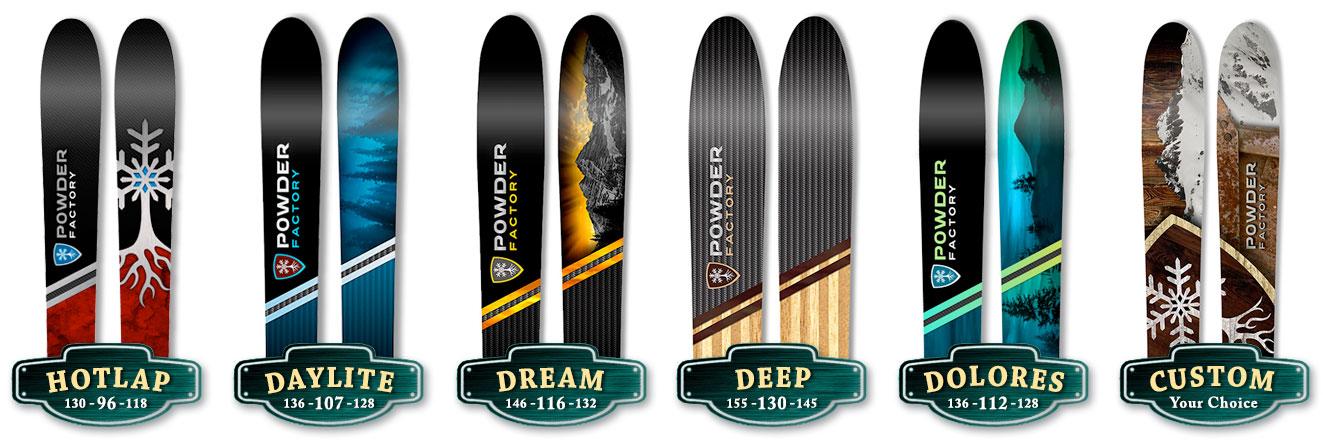 Order Powder Factory Skis