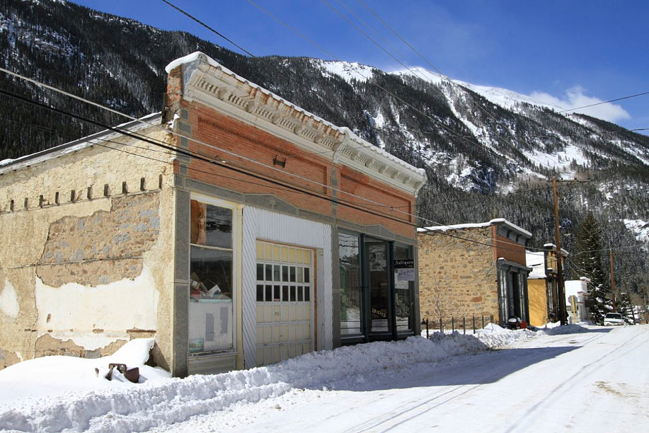 Historic Main Street Silver Plume, Home of Powder Factory Skis